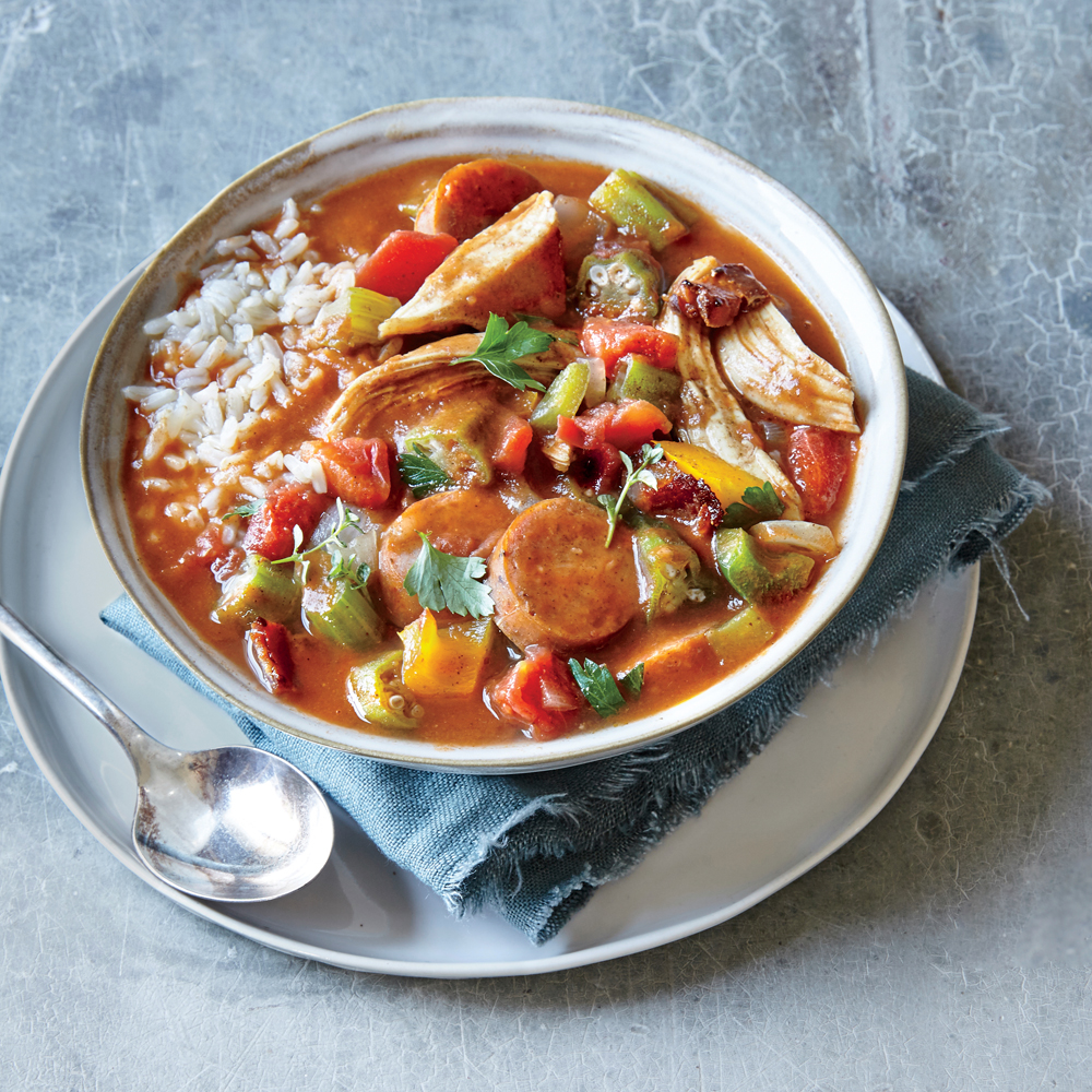 Turkey and Andouille Sausage Gumbo Recipe | MyRecipes