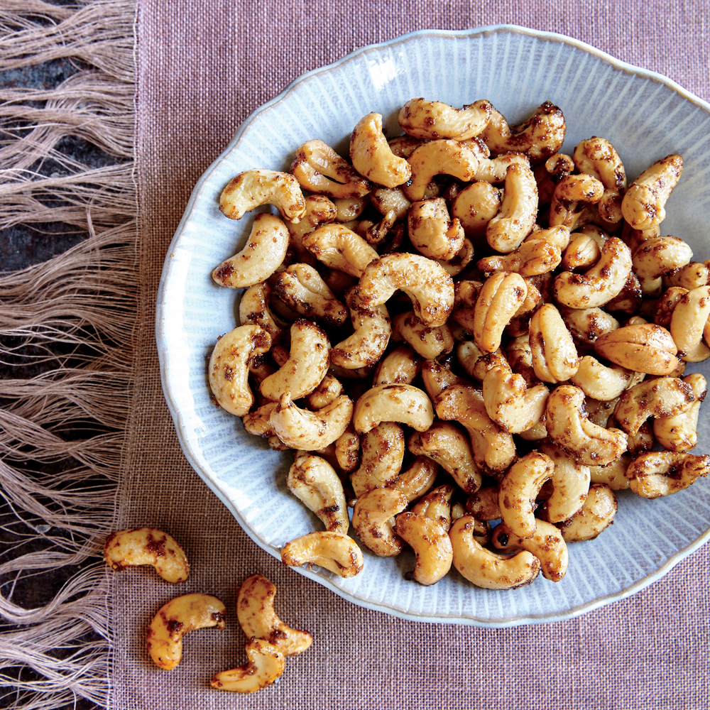Warm Spiced Cashews