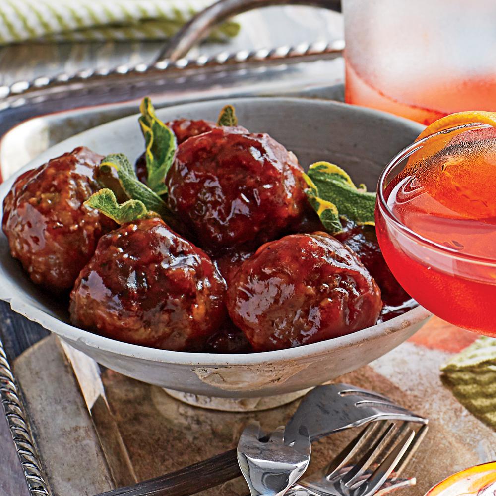 Cranberry BBQ Meatballs