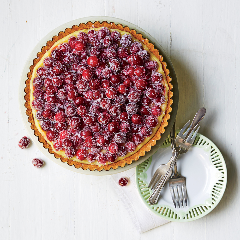 Cranberry-Orange Tart with Browned Butter Crust