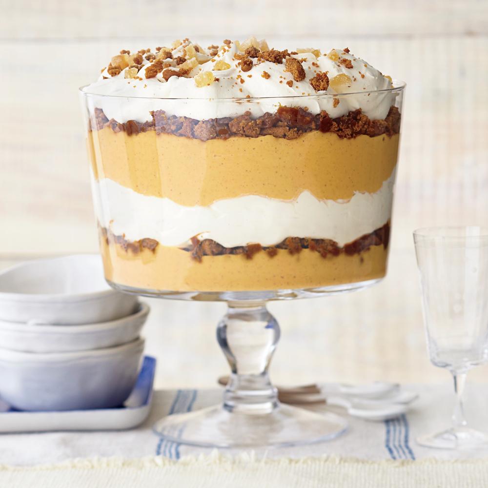 Ginger Pumpkin Trifle With Vanilla Mascarpone Cream Recipe