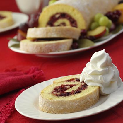 Cranberry Cake Rolls