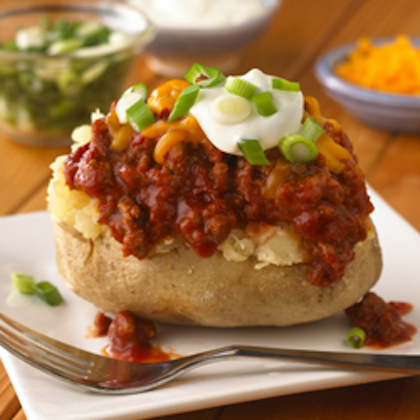 Sloppy Joe Stuffed Baked Potatoes