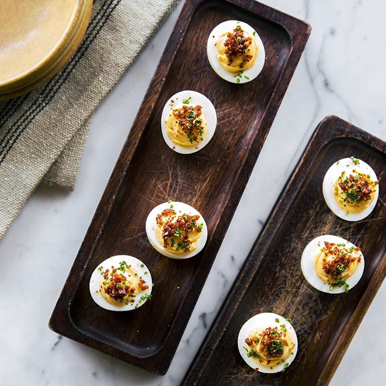 Chorizo Deviled Eggs