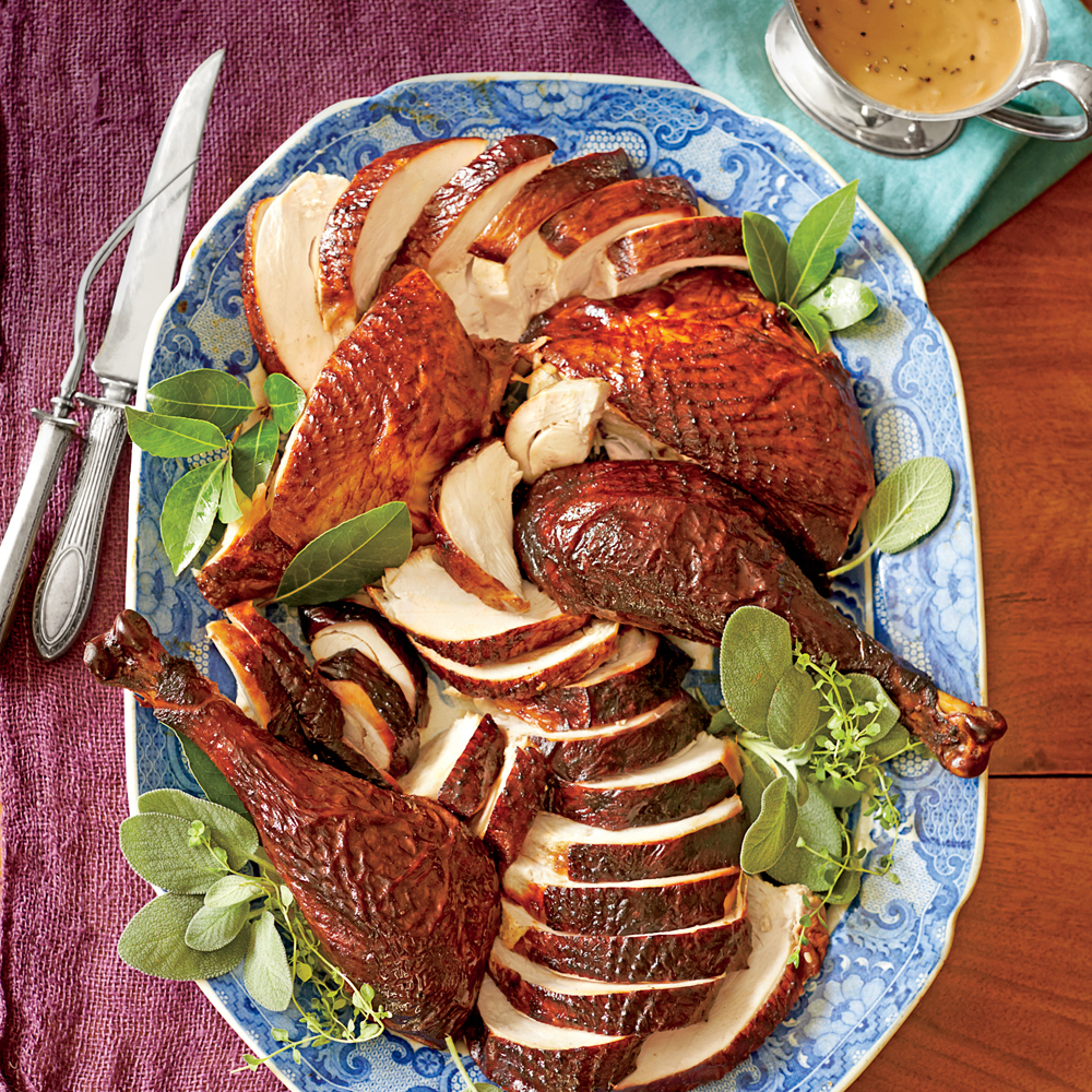 Dry-Brined-and-Marinated Smoked Turkey