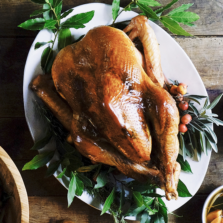 Dry-Cured Roasted Turkey with Herb Butter