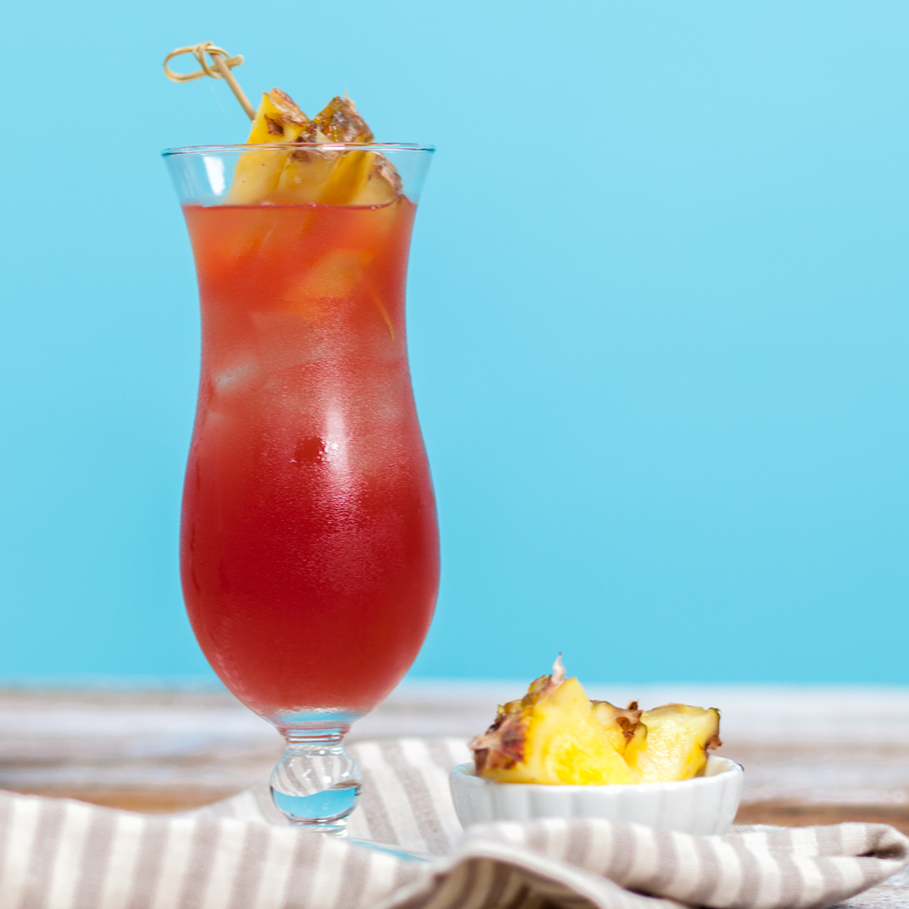 Bay BreezeFruit juices and vodka are all you'll need for this beachy cocktail. Now all you need is a tropical island!