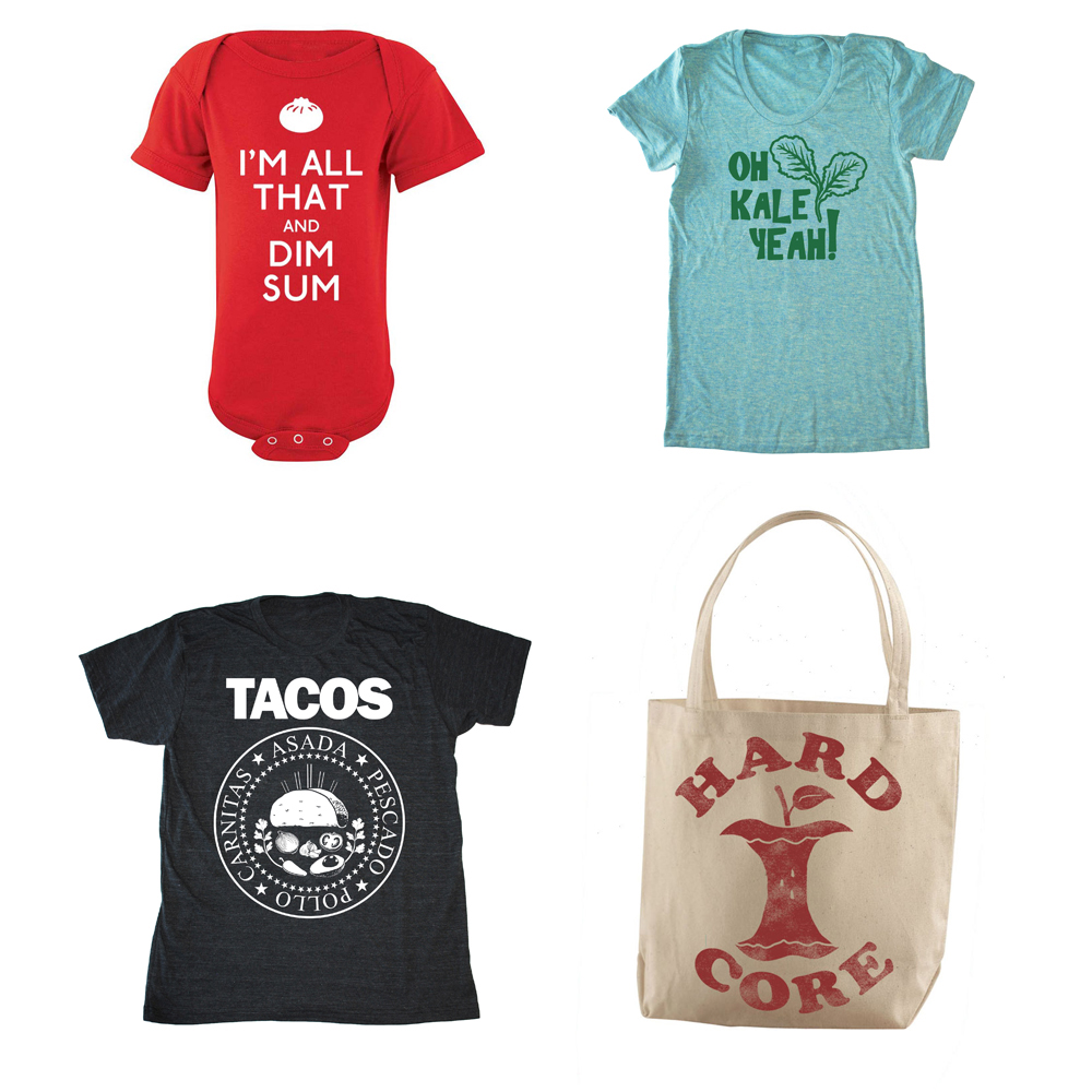 Bad Pickle TeesWho doesn't love a good food pun? From grocery totes to onsies, Bad Pickle Tees is your one-stop shop for some foodie fashion.