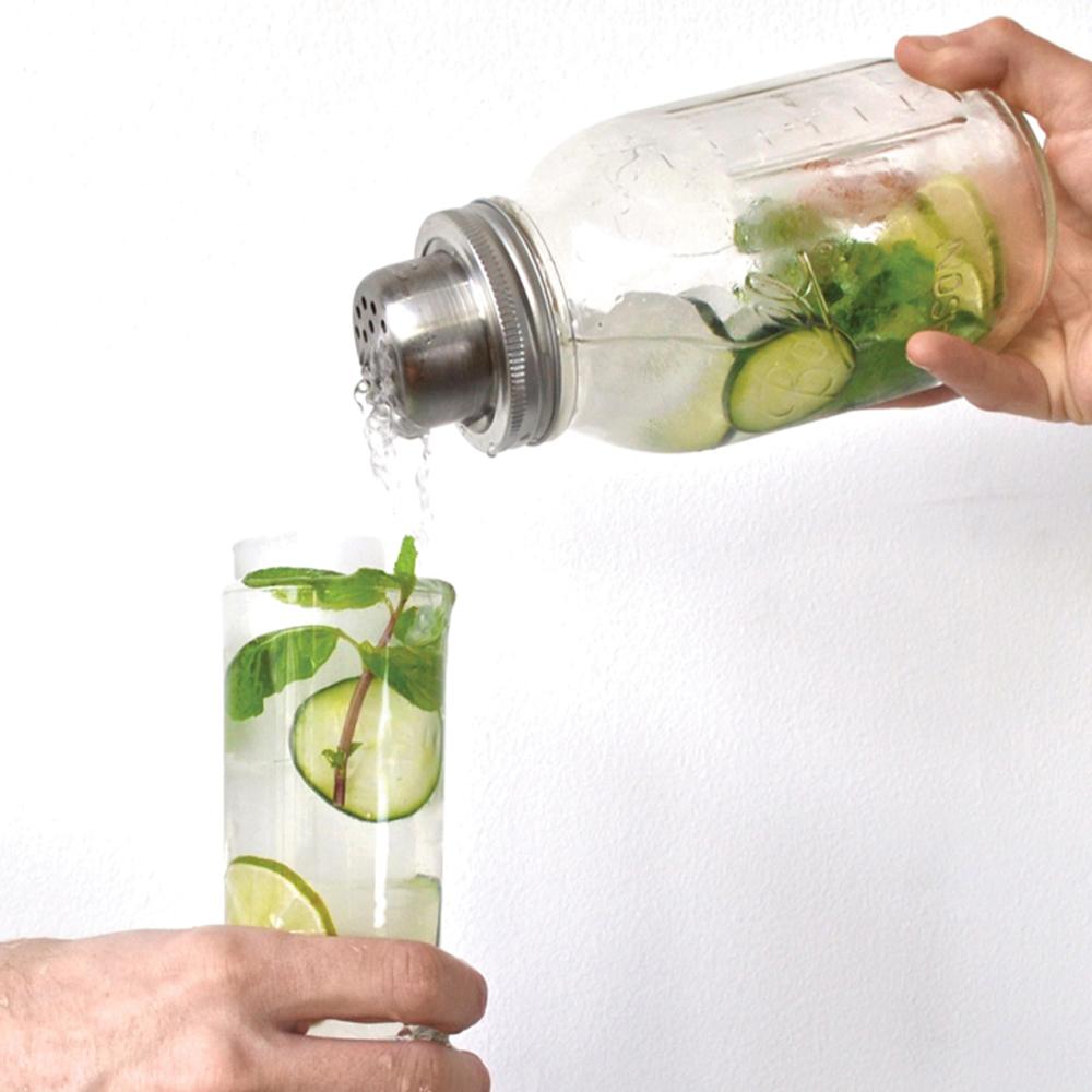 Mason Jar Shaker Bar Set