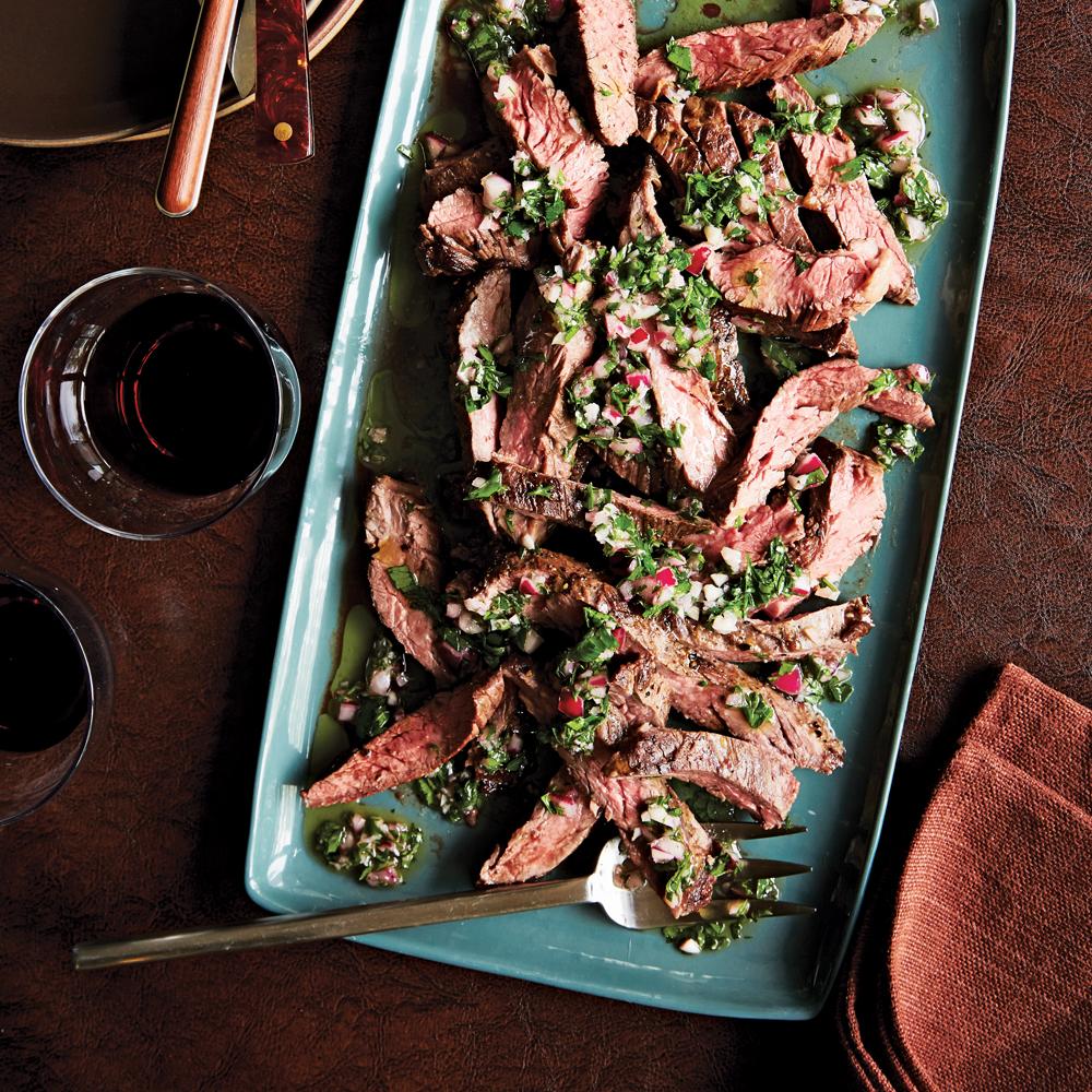 Pan-Seared Skirt Steak + Chimichurri