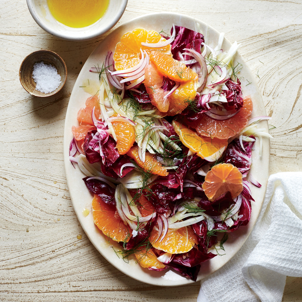 Fennel and Radicchio Salad with Citrus Vinaigrette