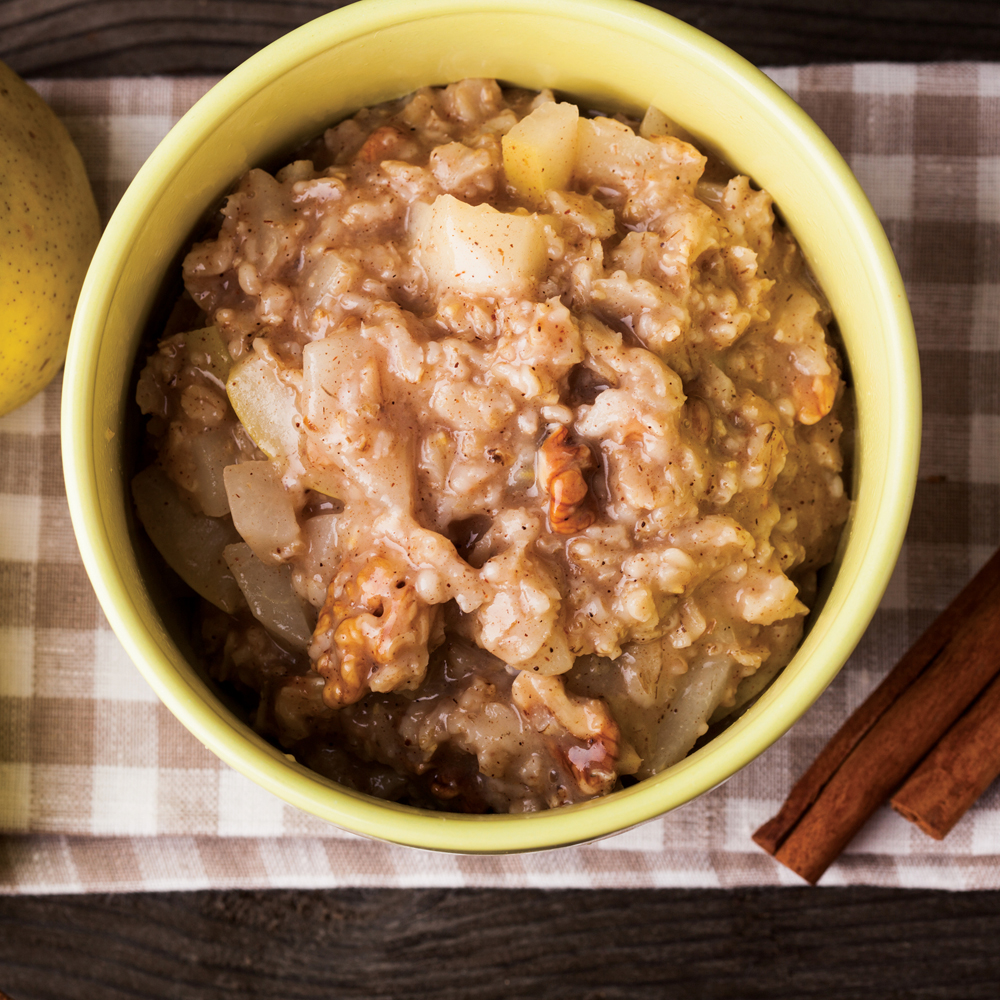 Slow-Cooker Oats with Brown Sugar and Pear