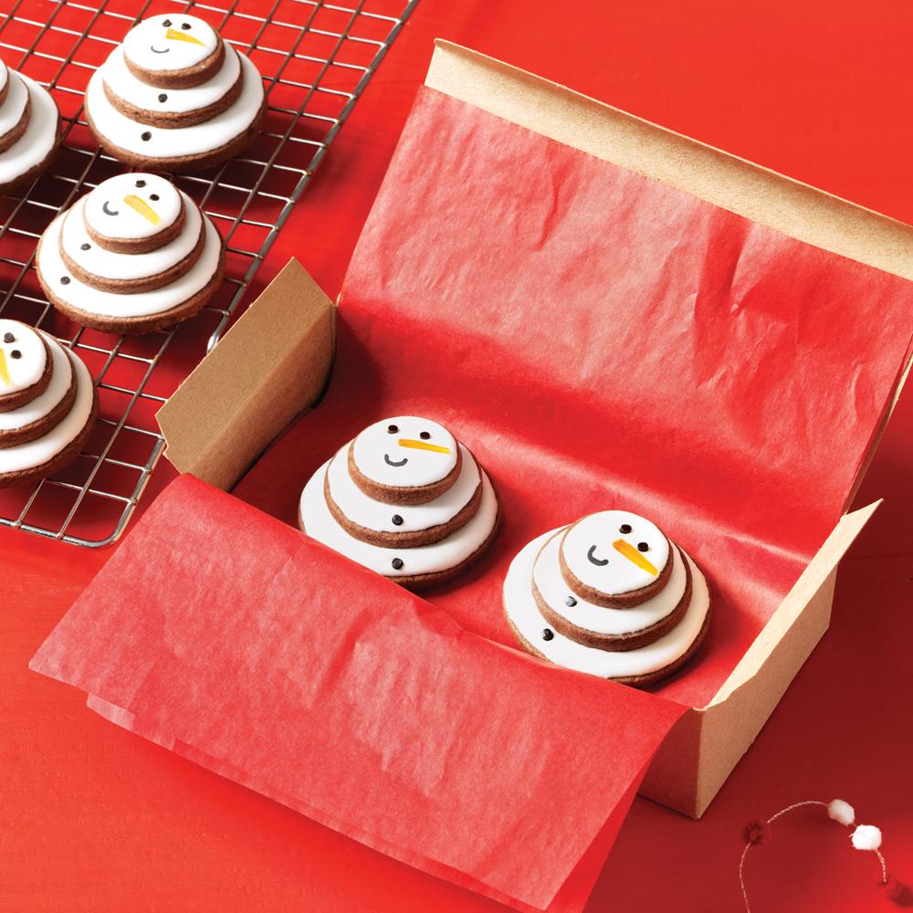 Stacked Snowman Cookies Recipe   MyRecipes.com