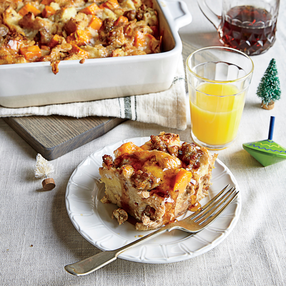Sweet Potato and Sausage Strata