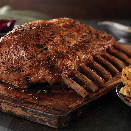 Herbed Pork Ribeye Roast with Cauliflower