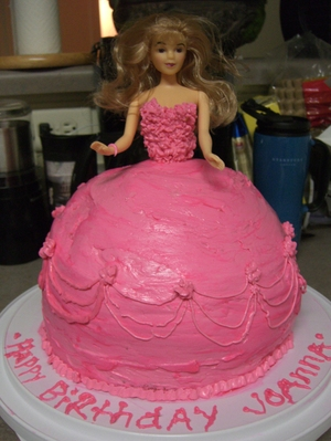 My Best Mess: Baking A Barbie Cake
