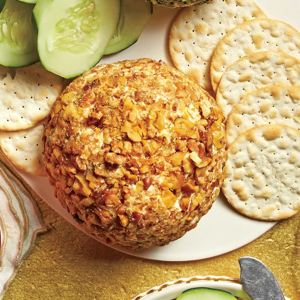 Cheddar-Horseradish-Walnut Cheese Ball