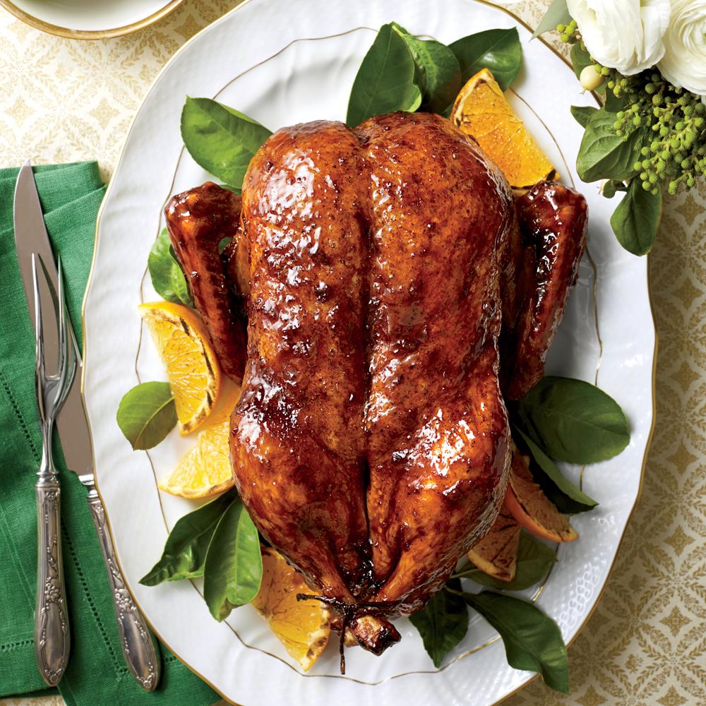 Classic Roasted Duck with Orange-Bourbon-Molasses Glaze
