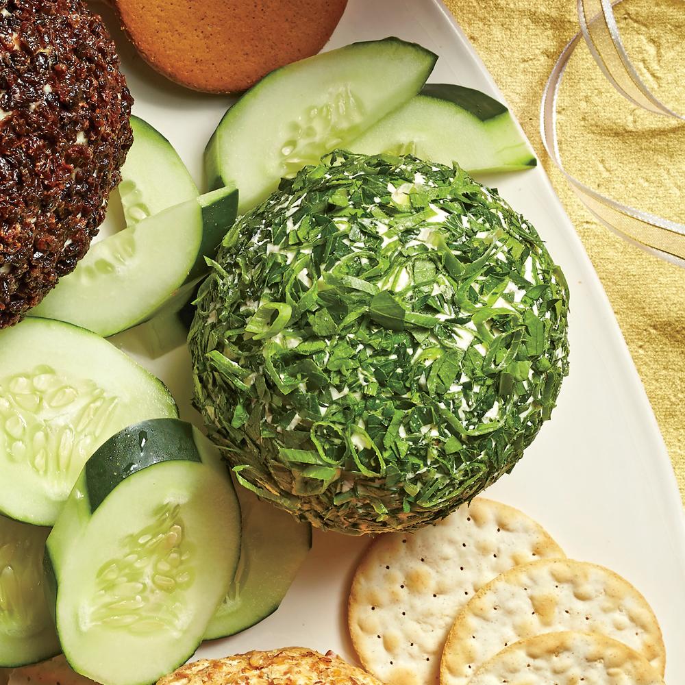 Feta-Olive-Fresh Herb Cheese Ball