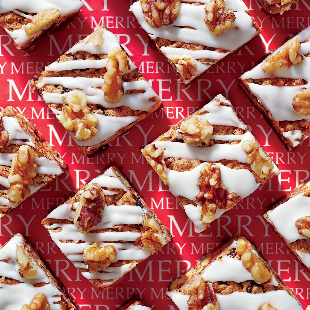 Glazed Fruitcake Bars Recipe | MyRecipes