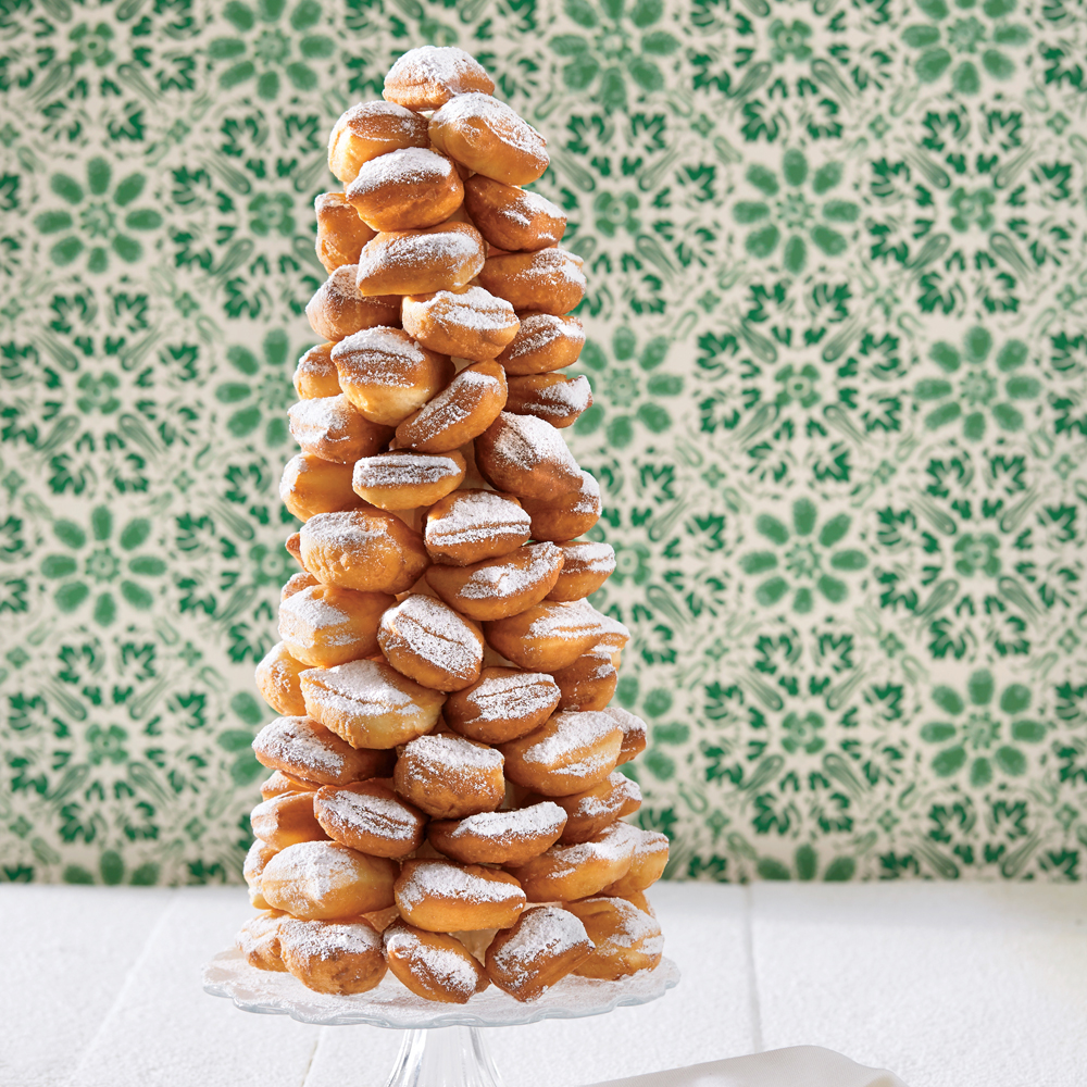 Praline Cream-Beignet Tower