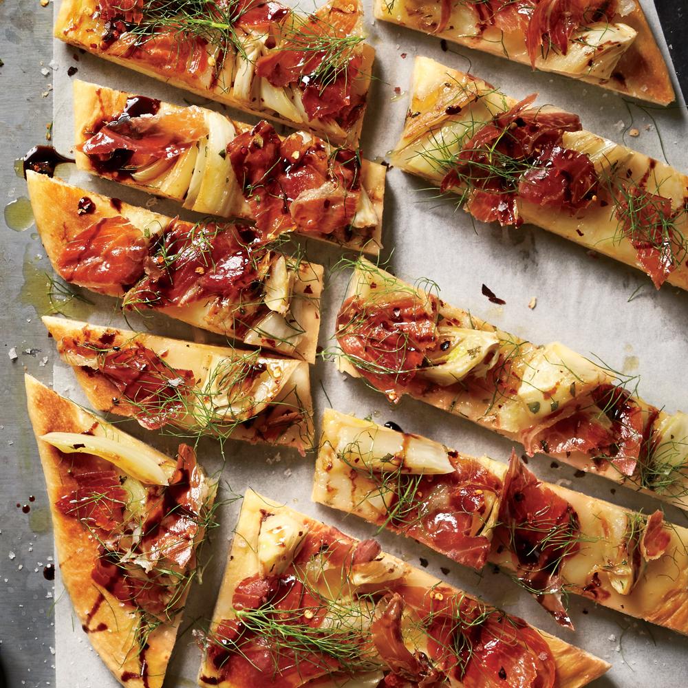 Roasted Fennel And Prosciutto Flatbread Recipe Myrecipes
