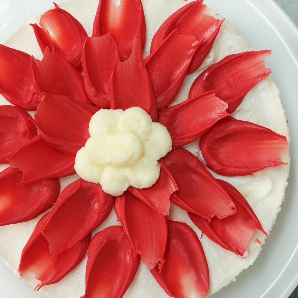 Poinsettia Cheesecake