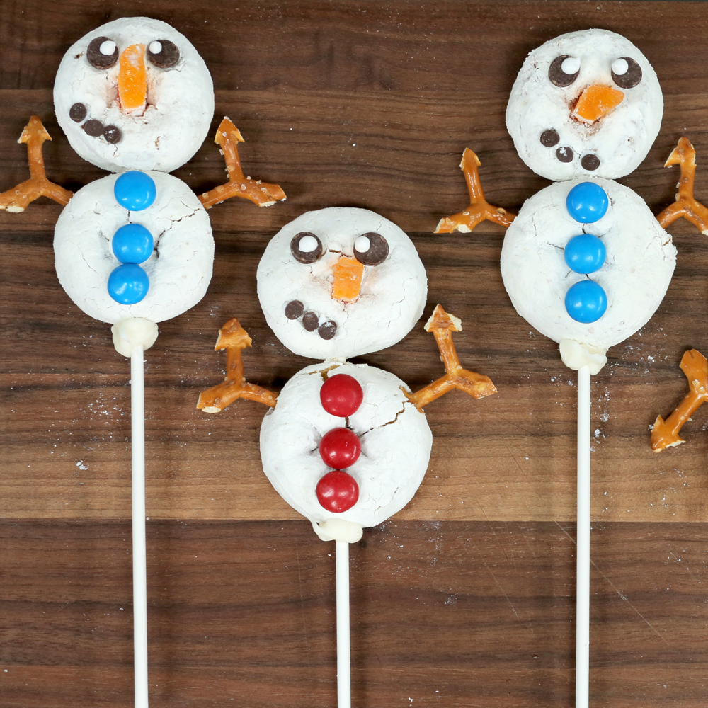 Snowmen Donut Sticks