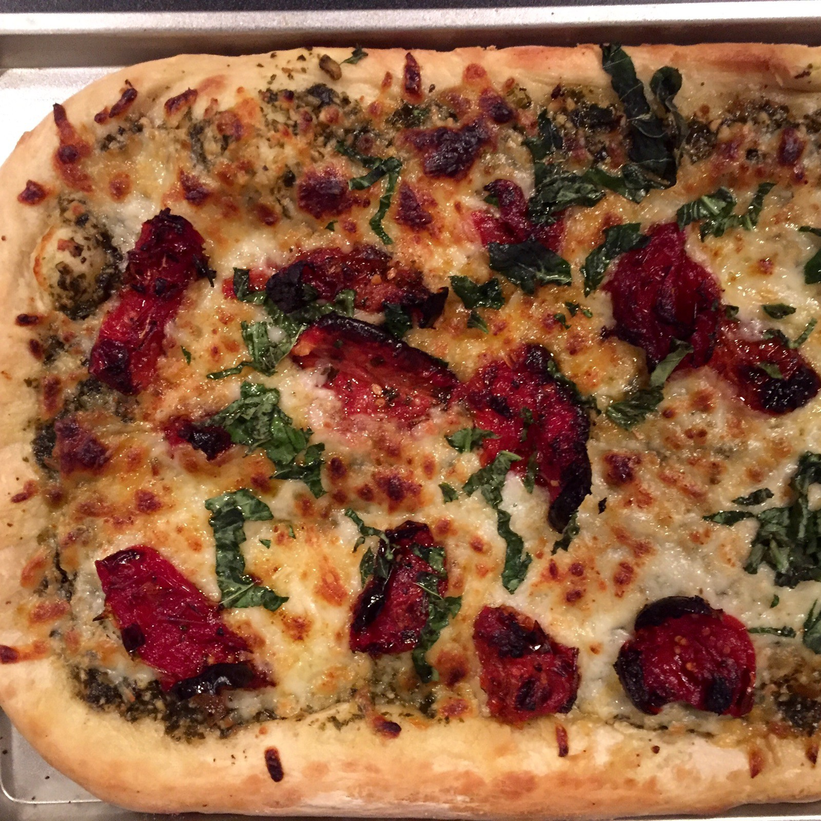 Sun-Dried Tomato and Pesto Pizza from All You