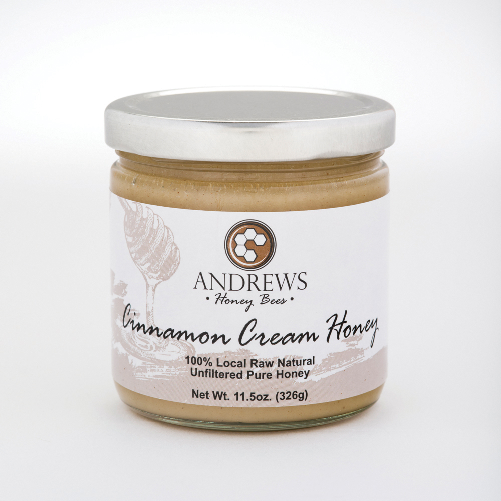 OklahomaAndrews Honey Bees knows honey, and they also know that the types of honey out there are as unique as the bees and flowers they come from. Their honey is high quality and gravity strained to preserve its natural state. We love the cinnamon cream honey, a smooth and creamy honey with a perfect hint of cinnamon.
