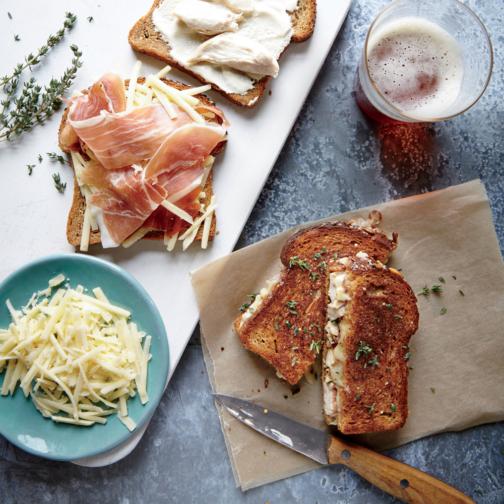Chicken Cordon Bleu Grilled Cheese Sandwiches
