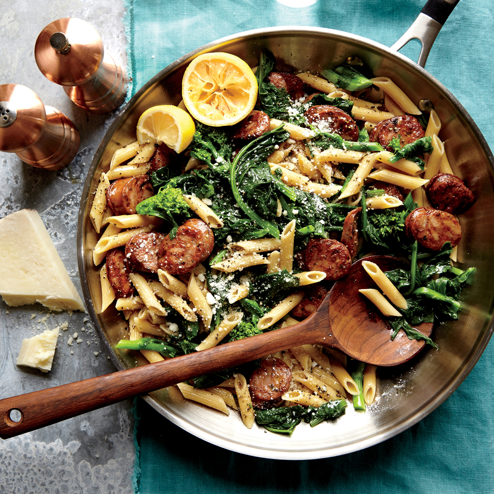 Chicken Sausage e Broccoli Rabe Penne