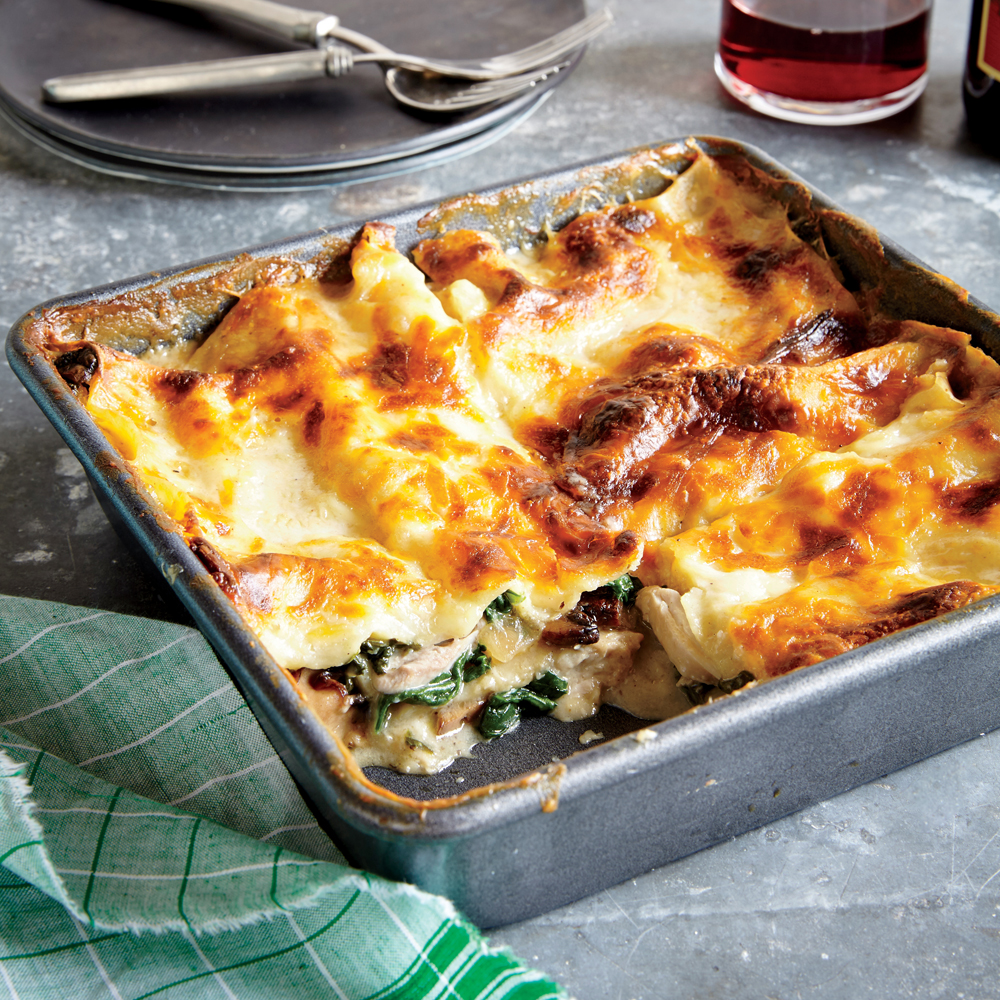 Chicken, Spinach, And Mushroom Lasagna Recipe