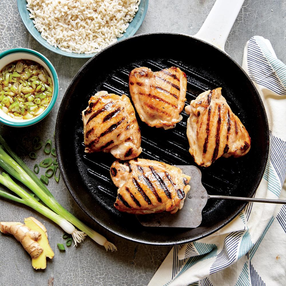 Grillowane udka z kurczaka z sosem imbirowym