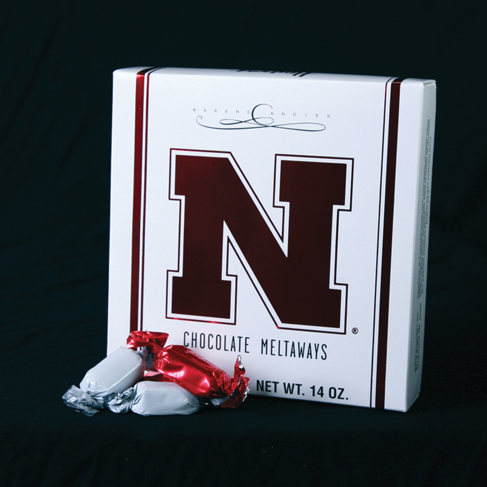 NebraskaHome of the delicious chocolate meltaways, Baker's Candies has a variety of treats and confections to please everybody. For the Nebraska fan in your life, give the gift of candy with the Nebraska Husker's Box, filled to the brim with both milk and dark chocolate meltaways.