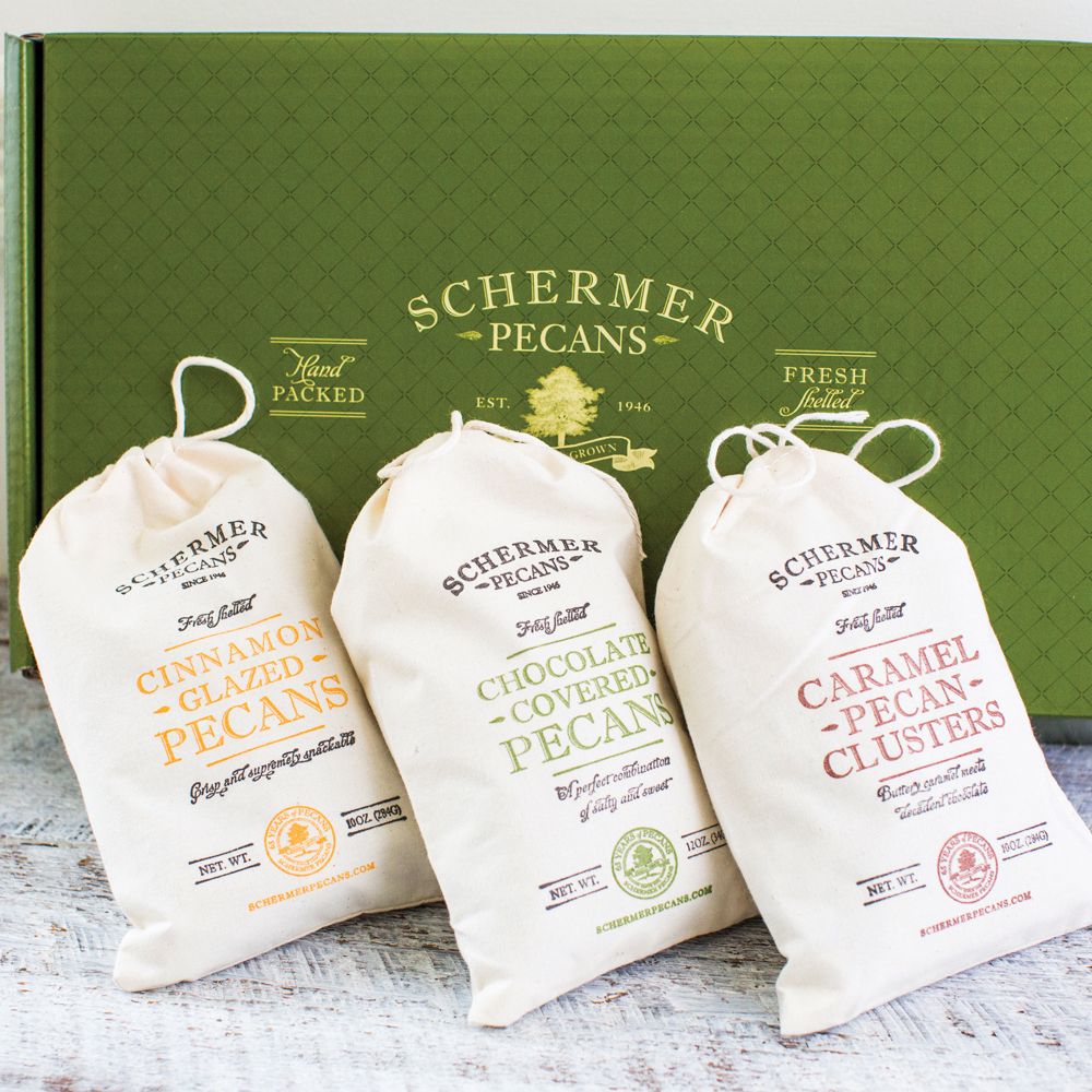 GeorgiaHarvested from Georgia orchards that have been in the Schermer family for over 65 years,  pecans from Schermer Pecans are a delicious addition to the holiday spread whether you partake in the simplicity of raw pecans or one of the signature candied varieties. Our pick? The Sweet Southern Collection.