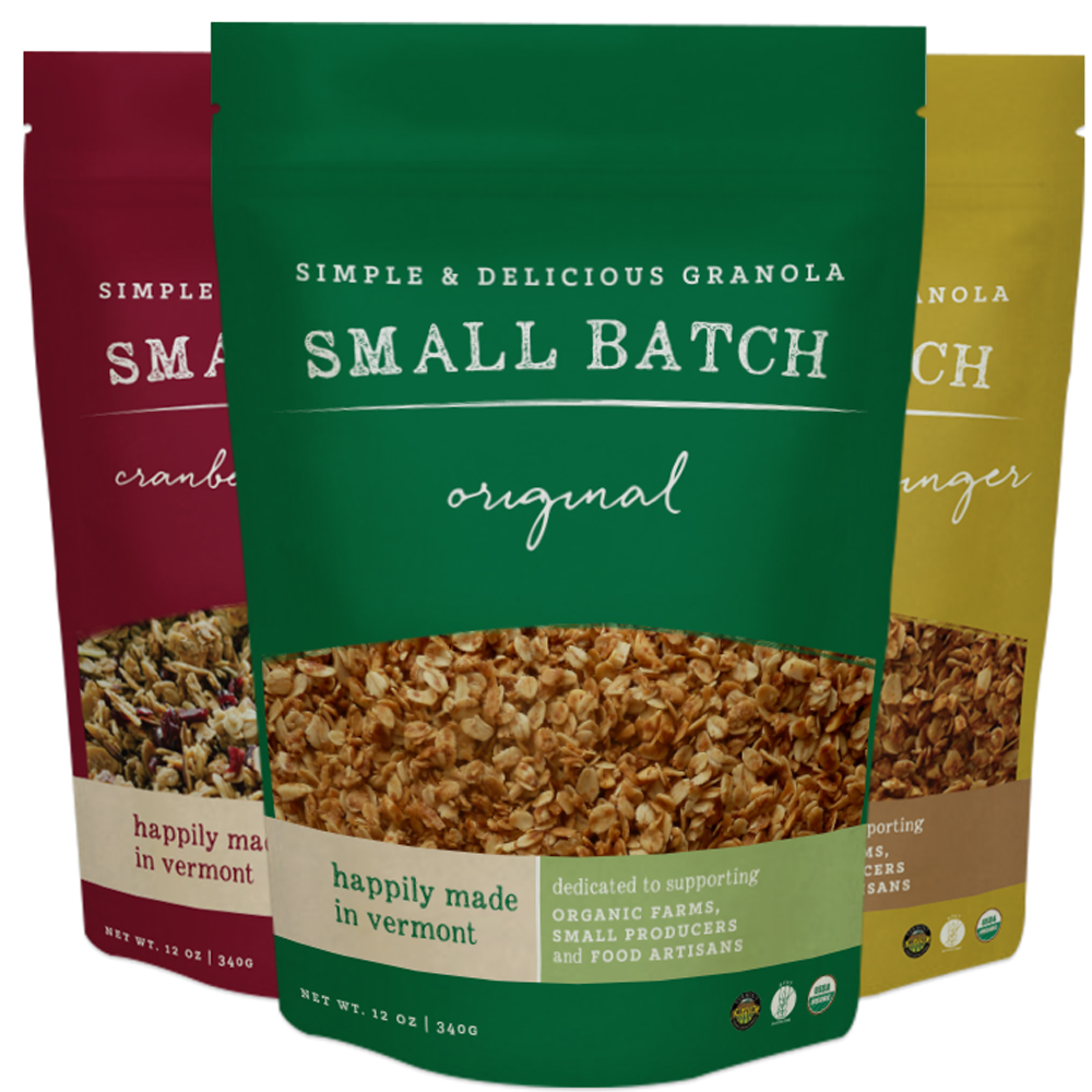 VermontNestled in the Green Mountains of Vermont, Small Batch Granola relies on a team of small farms and artisan food producers from the state to create some truly fantastic granola. We're huge fans of their original flavors, but if you find yourself with a chocolate craving, look no further than their awesome chocolate bark varieties.