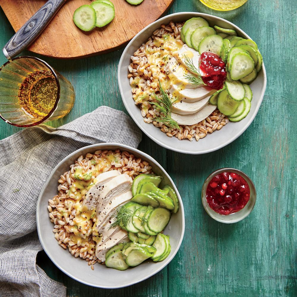 Tangy Chicken-Farro Bowl Recipe | MyRecipes