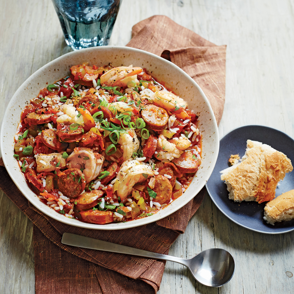 Andouille Sausage Jambalaya with Shrimp