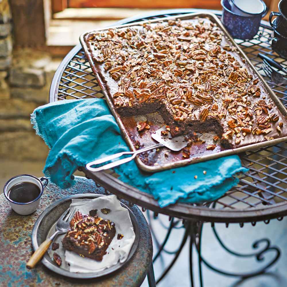 Texas Sheet Cake with Fudge Icing Recipe MyRecipes