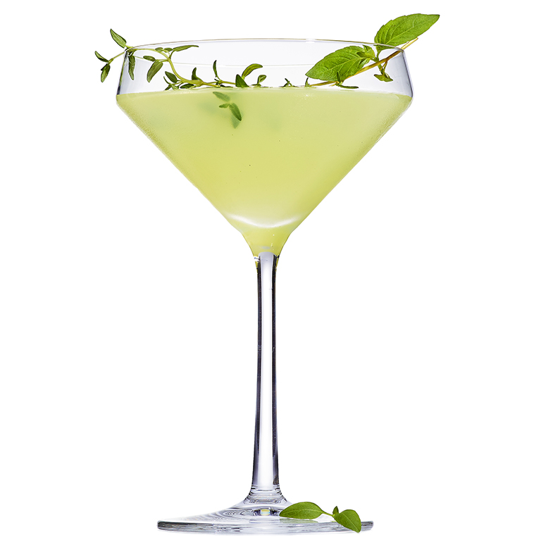 Basil Thyme Gimlet Recipe Myrecipes