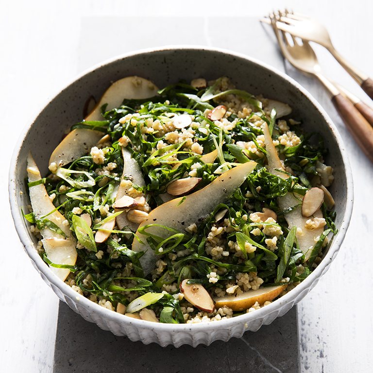 Collard Greens Salad with Freekeh