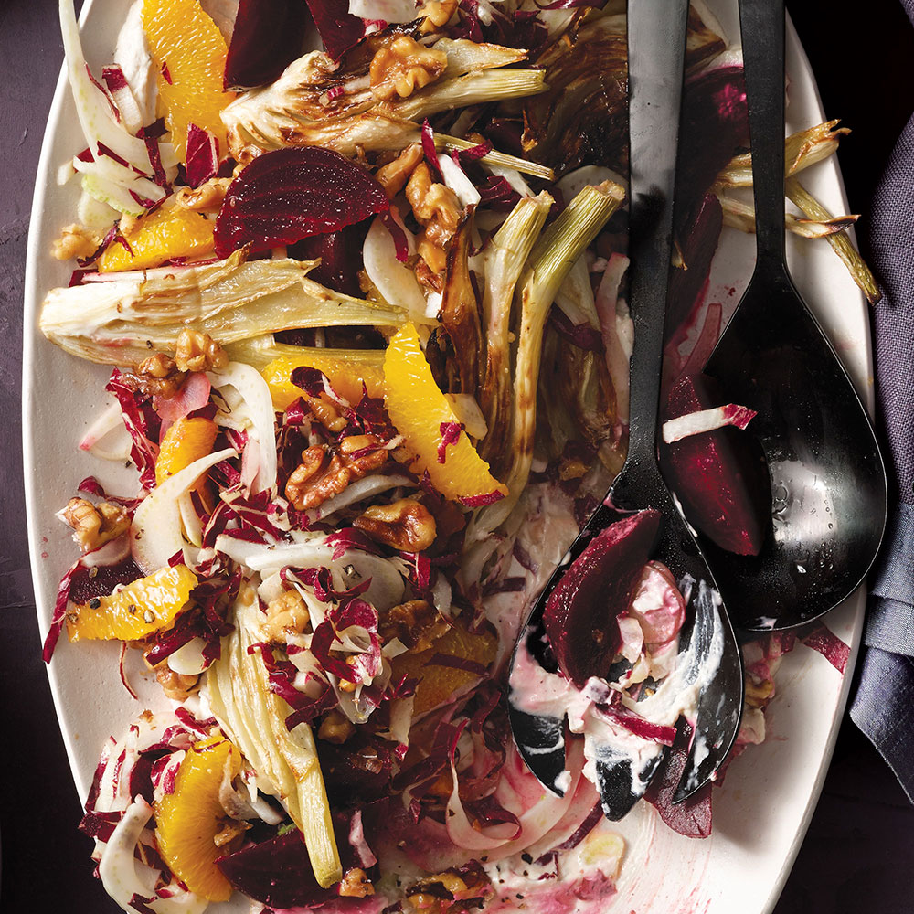 Roasted Fennel and Beet Salad