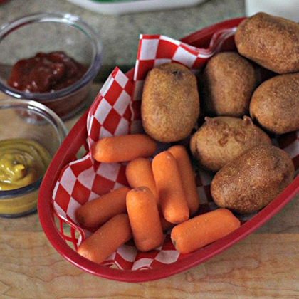 Easy Homemade Mini Corndogs