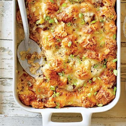 Cook With Confidence: Cheesy Sausage-and-Croissant Casserole