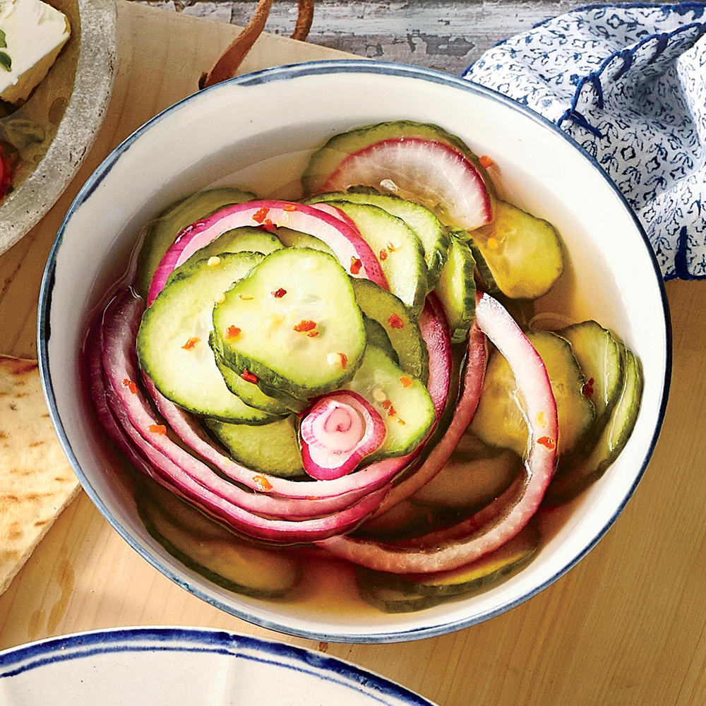 Quick-Pickled Cucumber Salad