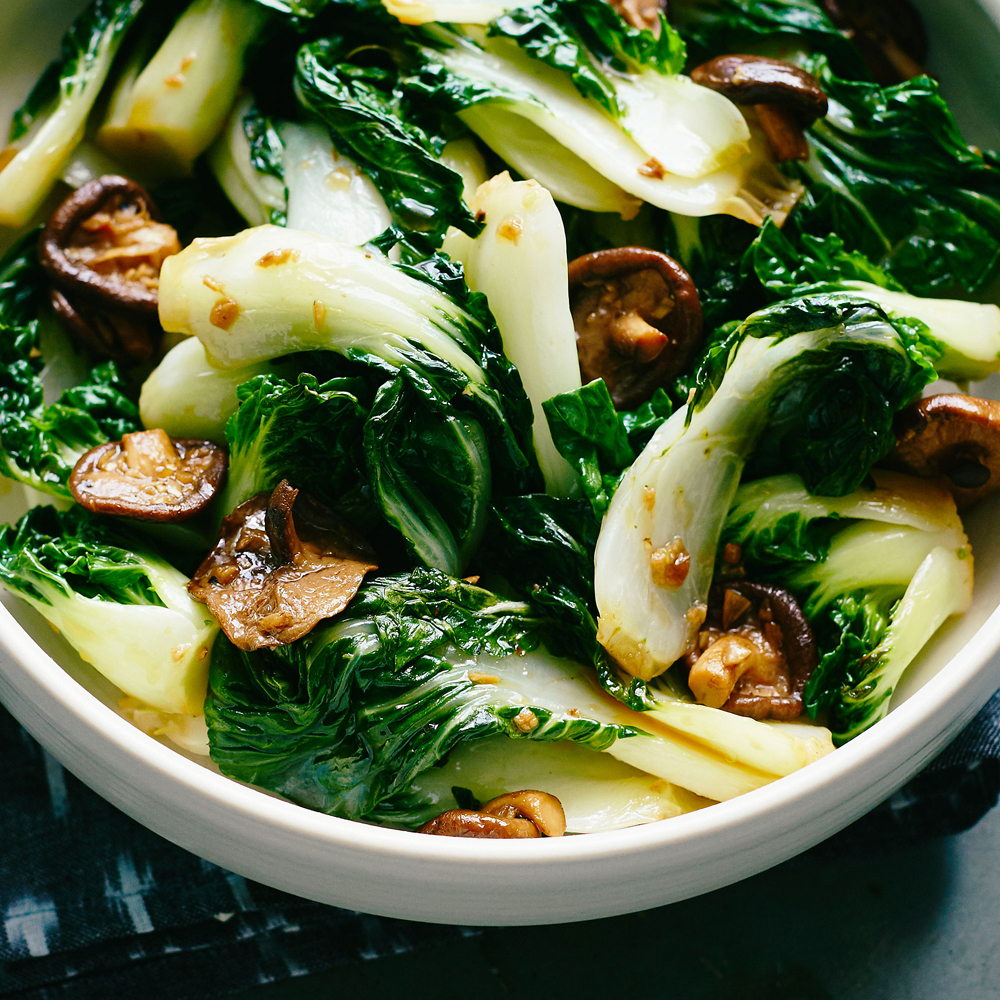 Bok Choy and Mushroom Stir-Fry Recipe | MyRecipes
