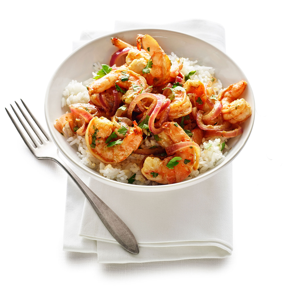 Shrimp and Spicy Mango Sauté