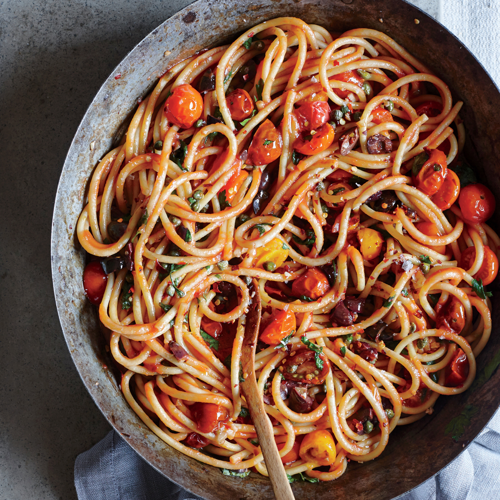 Bucatini Puttanesca Recipe Myrecipes