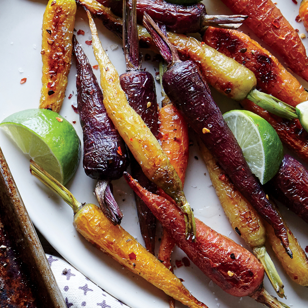 Chile and Lime Roasted Carrots